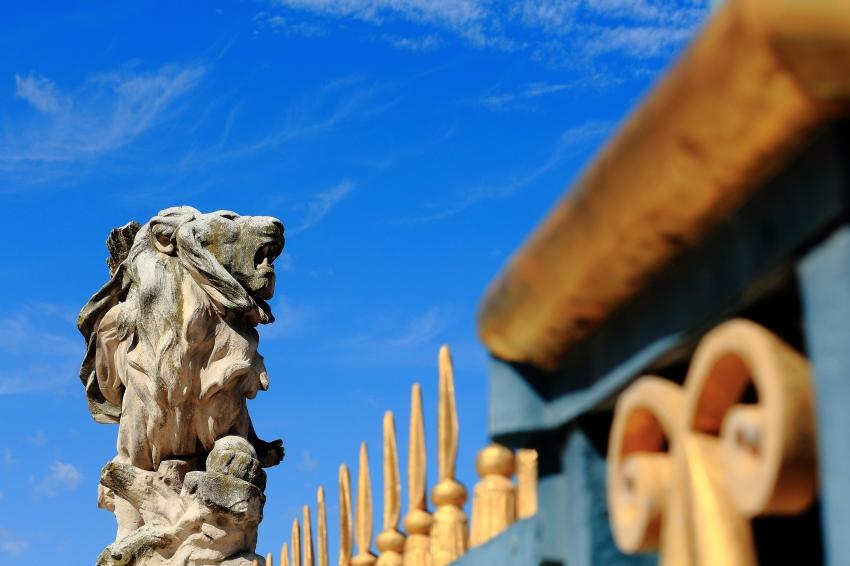 1)Roaring lion, in Parc du Peyrou